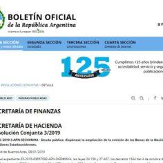 Amplían la emisión de Bonos de la Nación Argentina por 1.200 millones de dólares