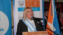 Foto: Twitter gobernadora Rosana Bertone