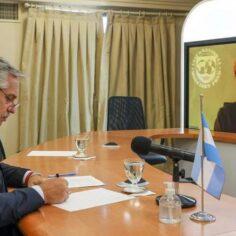 El Presidente y la titular del FMI mantuvieron un diálogo por videoconferencia